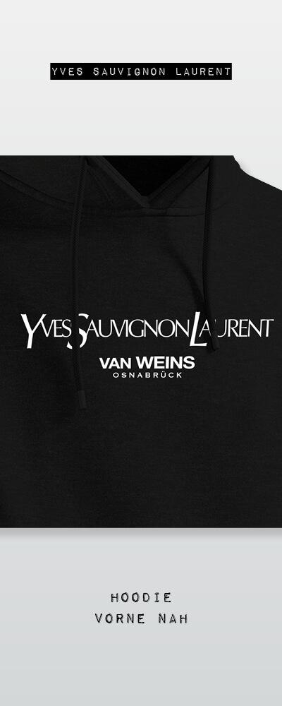 vanWEINS | Hoodie - Yves Sauvignon Laurent - Front Close Up